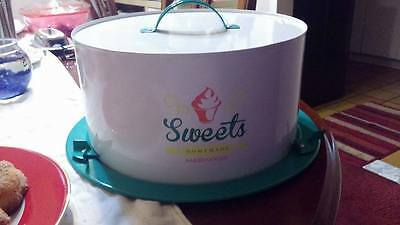 Cake Carrier Tin Caddy Free Shipping
