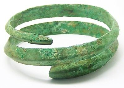 Excavated 750 - 550 B.C. Ancient Celtic Hallstatt Coiled Bronze Bracelet
