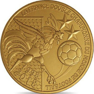 France Champion Du Monde De Football 2018 Médaille Monnaie De Paris Jeton Medals