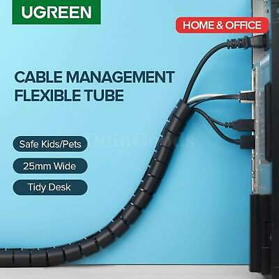 Ugreen Cable Organizer Spiral Wire Cord Holder Wire Management Winder Tv Desk Pc