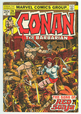Conan The Barbarian #24 1st App Red Sonja Marvel 1972 FN