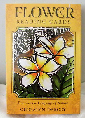Flower Reading Cards - Discover the Language of Nature  Cheralyn Darcey New