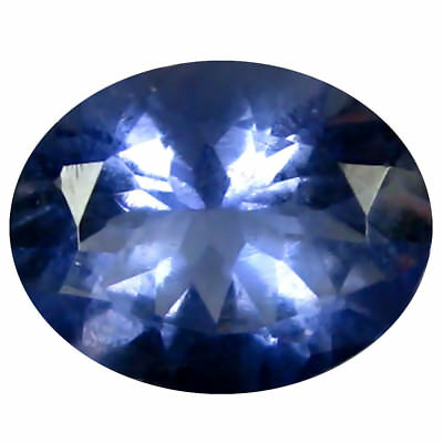 1.31 Ct AAA Grand Style Forme Ovale (9 X 7 mm) Iolite Naturel Libre