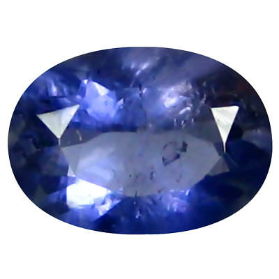 0.58 Ct AAA Significant Forme Ovale (7 X 5 mm) Iolite Naturel Libre