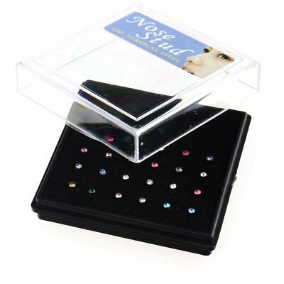 24Pcs Percing Nez Pneu Diamant Chic Coloré Nose Ring Mode Fashion 7x1MM CadeauNF