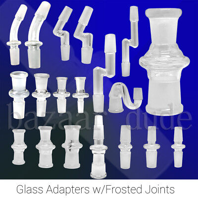 Glass Adapter | Joint Connector | 10mm 14mm 18mm Female Male | for Quartz Banger