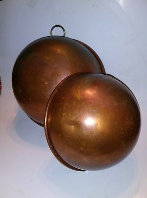 Vintage Wall Hanging Copper mixing bowls (2)  By B&M Portugal Douro