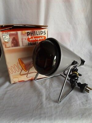Philips Infraphil Heat Lamp ~ Sports Injuries, Sore Muscles, Cramps, Sprains