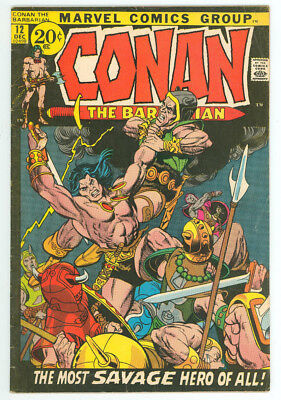 Conan The Barbarian #12 Marvel 1971 FN