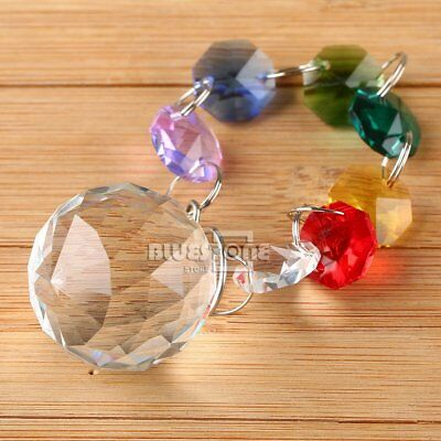 US Hanging Window Handmade Rainbow Suncatcher Crystal Prisms Ball Xmas Decor