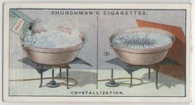Demonstration of Chrystallization Salt Science Experiment 1920s Trade Ad Card
