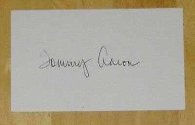 Tommy Aaron Us Masters Golf Autograph Personally Hand Signed Index Card
