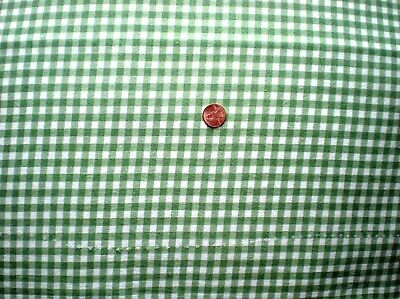 GREEN GINGHAM Full Vtg FEEDSACK Quilt Sewing Doll Clothes Craft Cotton Fabric