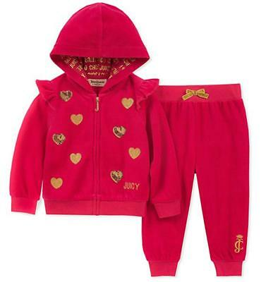 710edf5f7 JUICY COUTURE 3-6 Pink Velour Hoodie And Pant Set -  59.99