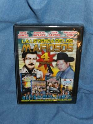 La Leyenda De Los MAFIOSOS Legend of the Mobsters 4 Movies New & Sealed DVD