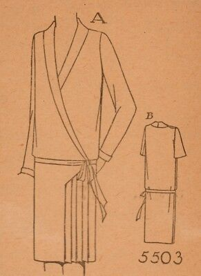 1928ish Ladies Home Journal Flapper Dress Pattern Factory Folded