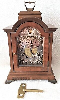 Mantel Clock Warmink Dutch Wubba Vintage Moonphase Bell Strike 8 Day