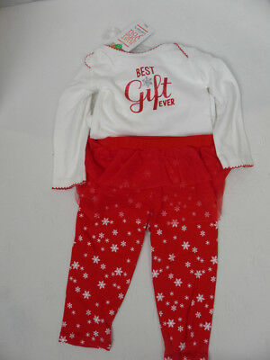 902a187564ba Carter s Baby Girl 2-Piece Christmas Holiday Outfit Best Gift Ever Graphic  New
