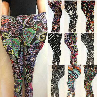 Fabulous 26 Patterns Floral Printed Plus Ankle/Cropped Leggings Women Pants 2018