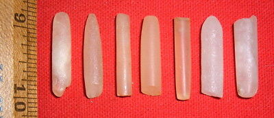 (7) Nice Sahara Neolithic Plugs / Labrets, Prehistoric African Artifacts