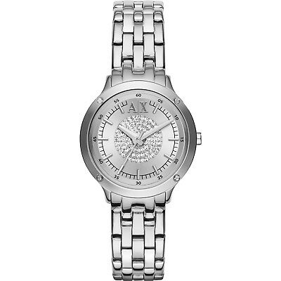 Armani Exchange Capistrano  AX5415 Women's silver diamods crystals Watch £189