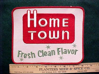 "Home Town Bread Vintage Embroidered Jacket Uniform Patch LARGE 7.5"" x 6"" Old"