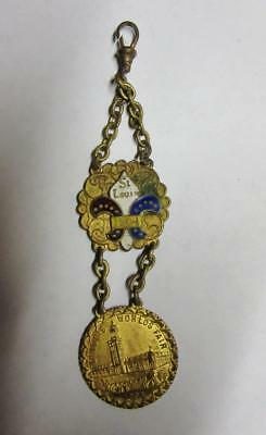 "Scarce ST. LOUIS WORLD""S FAIR WATCH FOB, 1904       FREE SHIPPING"
