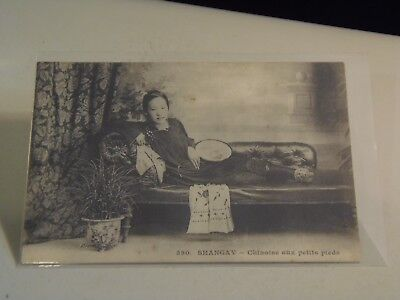Young Chinese Women with Little Feet, Shangay, China Postcard,  SZ37