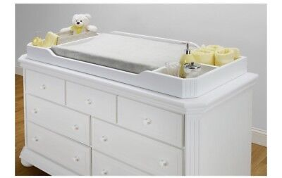 White Wooden Dresser Top Changing Table