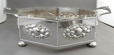 WMF Antique Art Deco Silver Plated Centrepiece Handled Bowl With Glass