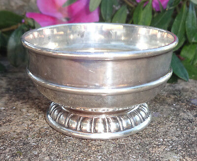 Heavy, Sterling Silver Pedestal Open Salt Dip, Cellar, Dish!