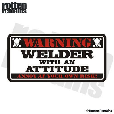 Welder Warning Decal MIG ARC TIG Welding Helmet Window Gloss Sticker HGV