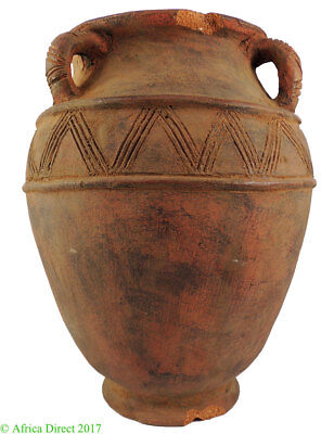 Nupe Igbo Clay Terracotta Pot Water Container African 20 inch