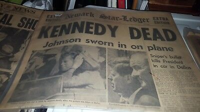 John F Kennedy Rare Newspapers