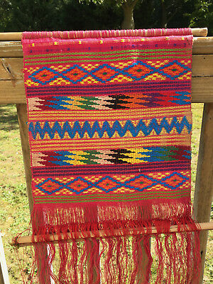 Vintage Mexican Woven Wall Hanging Guatemala Weave 1970s Mexico