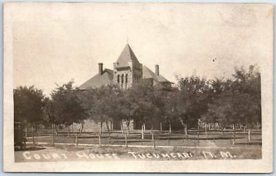 Tucumcari, New Mexico RPPC Real Photo Postcard QUAY COUNTY COURT HOUSE 1923