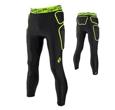 Oneal Trail Protektor Trousers Long Neon Mx Enduro Protector Shorts Pant Lime