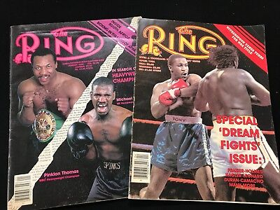 Pair Of Vintage January & April 1986 Back Issues Of The Ring Boxing Magazines