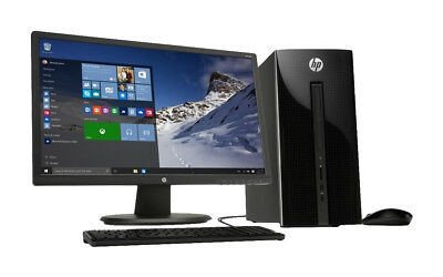 HP Desktop computer, monitor, keyboard, and speakers J2900 Processor 4GB 1TB HD