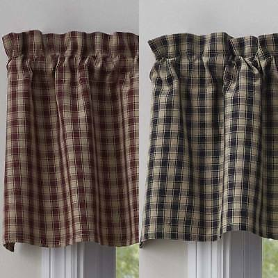 Town and Country Valance Wine or Black