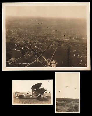 1930 US ARMY AIR CORPS Photos of Curtiss P-1 Hawk Parked Split Dive in Formation