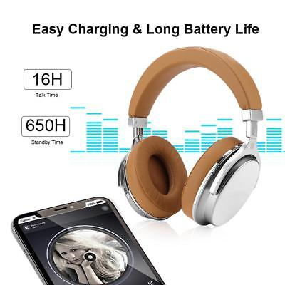 Bluedio T4S Bluetooth Wireless Smart Headphone Over Ear Noise Cancelling Headset