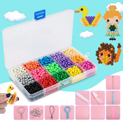 2400PCS Aqua Water Beads Kit Puzzle Multicolor DIY Solid Bead Educational Toys