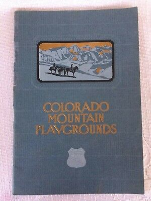 Vintage 1930 Colorado Rocky Mountain Playground Parks Union Pacific Brochure