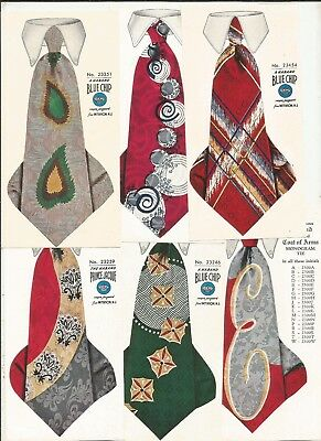 1930-40 PATERSON NJ. Haband Co. SILK TIES Sample Advertising Great Colors Mailer