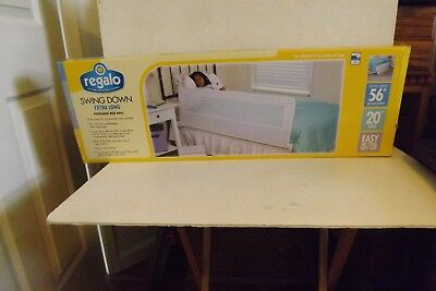 """Extra Long Bed Rail Hide Away Safety Guard Bed Rail Kid 56"""" MIB"""