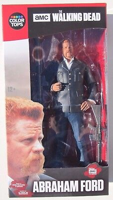THE WALKING DEAD ABRAHAM FORD with Guns and Stand: COLOR TOPS #7