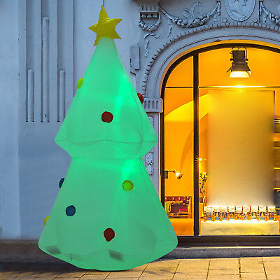 6ft inflatable christmas tree lighted airblown holiday outdoor yard decorations