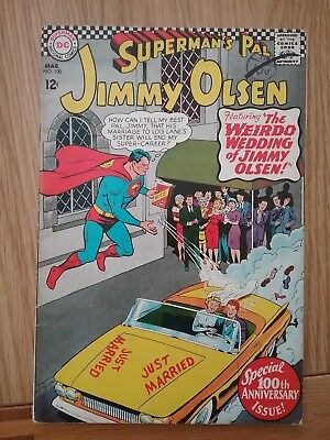 DC Silver Age Comic SUPERMAN'S PAL JIMMY OLSEN 100 (1967) £4.99 Post Free UK
