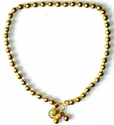 PAIR OF GOLD COLOR WITH 2 BALL Chain Ankle BRACELET INDIA ,